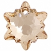 Swarovski Pendant 6748 Edelweiss 18mm Golden Shadow Crystal
